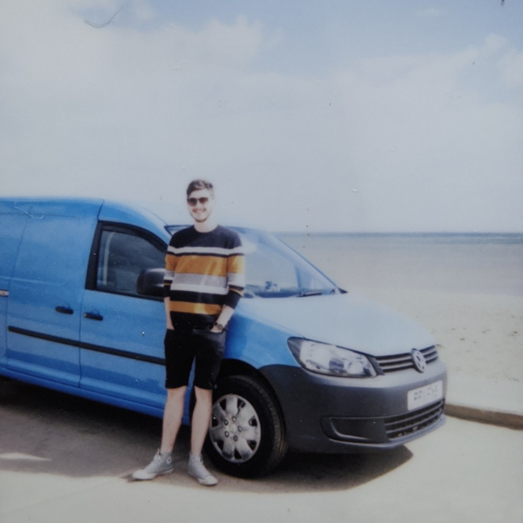 VW Caddy Maxi panel van on the beach