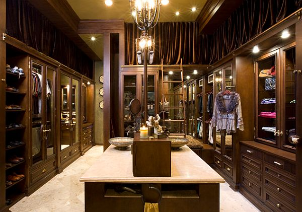 luxury closets with island for woman