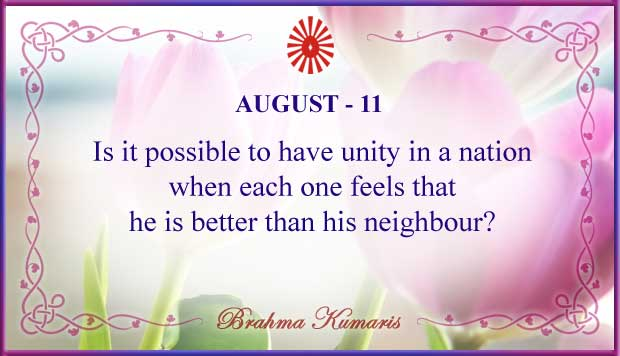 Thought For The Day August 11