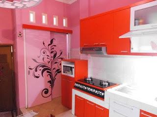 Koleksi Desain Dapur Minimalis Warna Pink Cantik