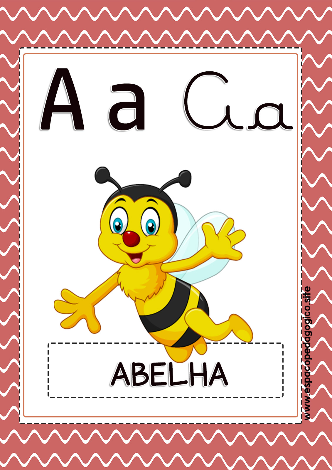 Cartazes Com Vogais Lindos De Parede Para Imprimir Espaco Pedagogico