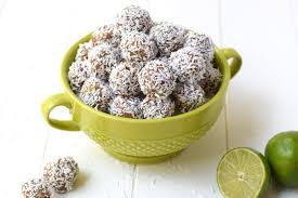 Lime Coconut Energy Bites #healthyfood #dietketo #breakfast #food