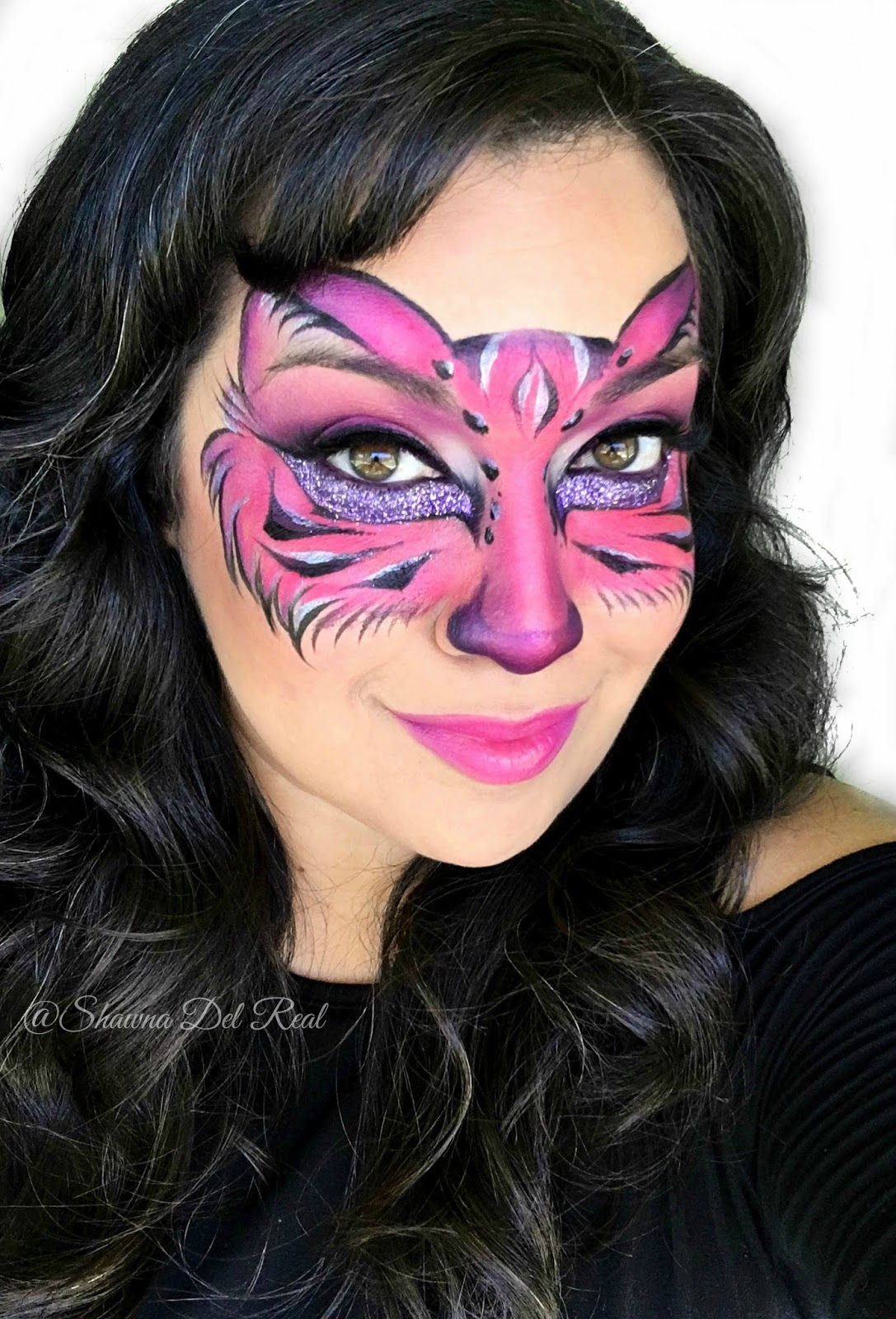 shawna d makeup pink kitty face painting mask fotd