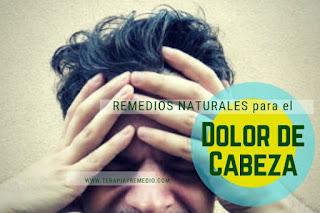 Remedios caseros para el dolor de cabeza o cefaleas