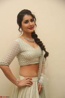 Raashi Khanan looks stunning in Crop Top Deep neck Choli Ghagra Transparent Chunni WOW ~  Exclusive Celebrities Galleries 140