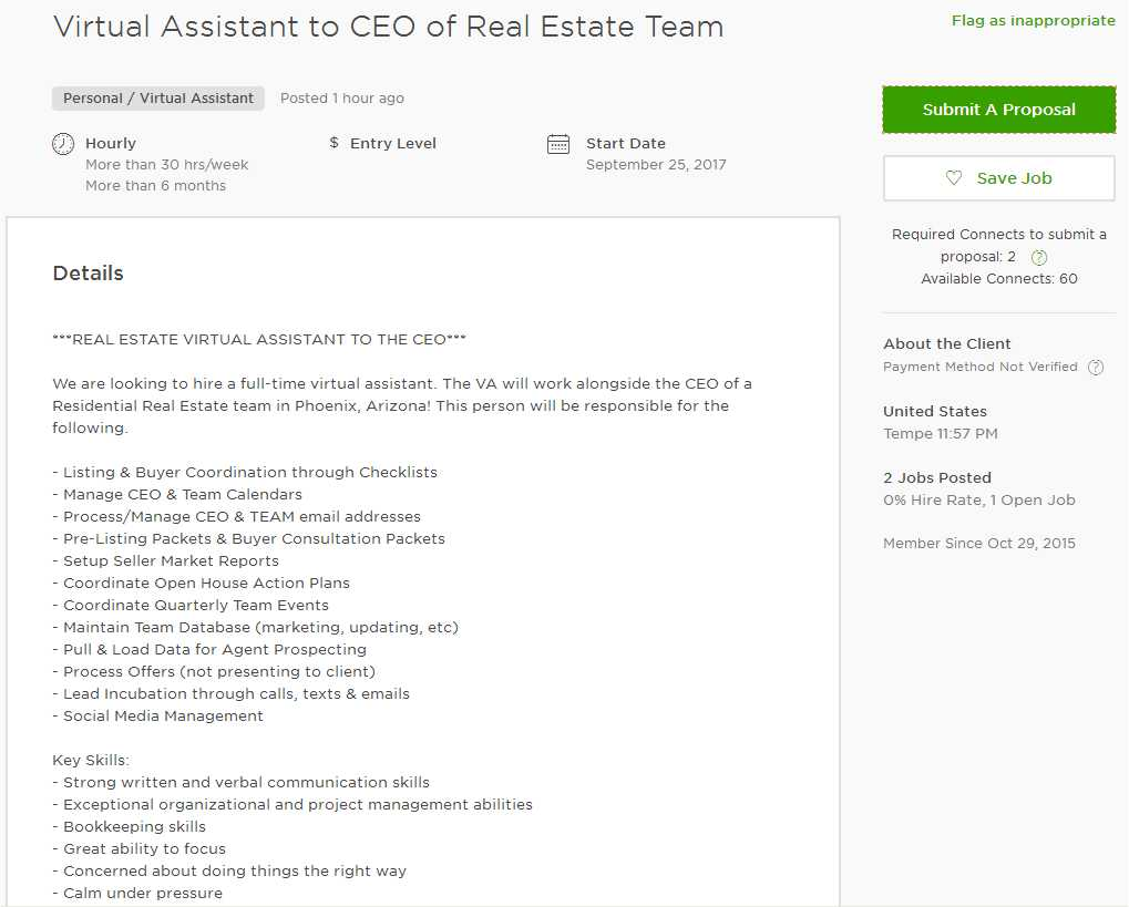 odesk cover letter virtual assistant