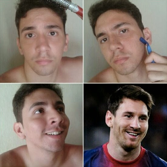 #MakeUpTransformation  messi