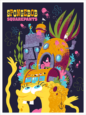 SpongeBob SquarePants Screen Print by Drake Brodahl x Nickelodeon x Mondo