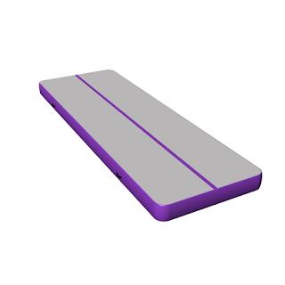 Inflatable tumbling mat