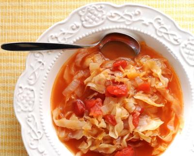 Peasant Cabbage Tomato Soup ♥ AVeggieVenture.com
