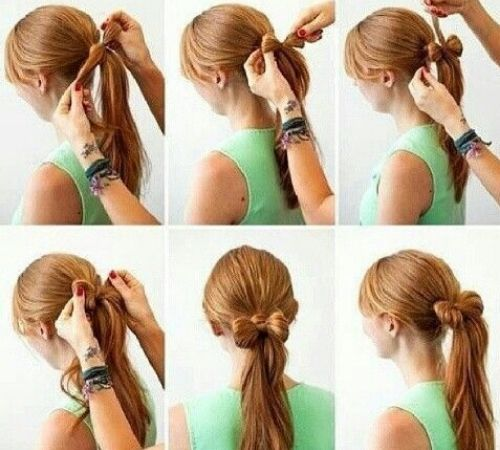 bun hairstyle for long hair