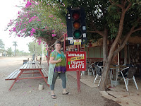Northern Territory's most remote Traffic Light in Daly Waters