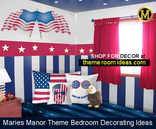 AMERICANA THEME BEDROOM-stripes-stars-theme
