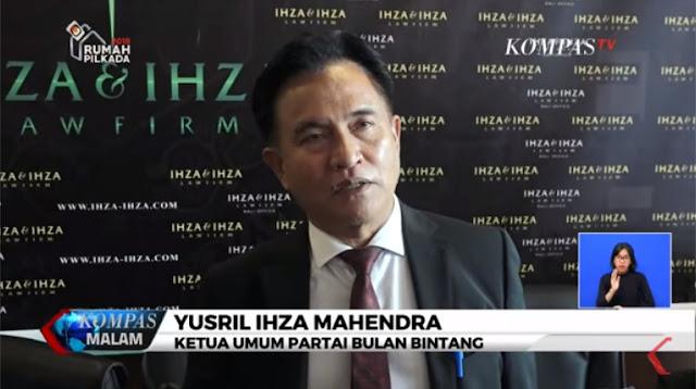 Yusril Sebut 4 Parpol Perlu Berkoalisi untuk Lawan Jokowi di Pilpres 2019