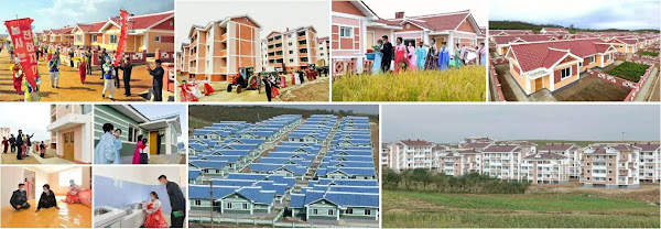 New houses in Sunan area of Pyongyang