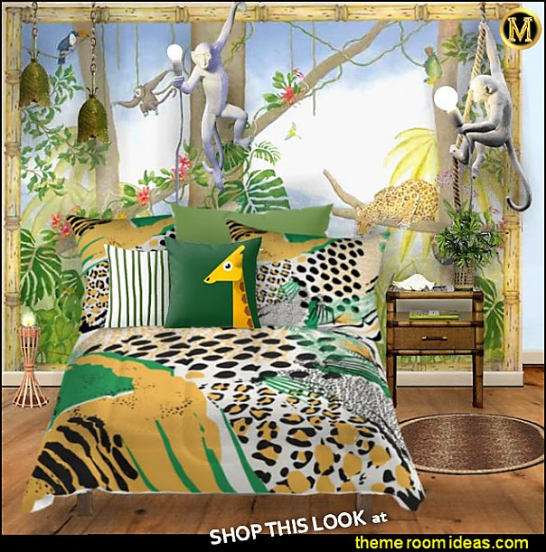 jungle bedrooms TROPICAL JUNGLE BEDROOM DECOR WILD ANIMAL BEDROOMS  Decorate your jungle paradise with fun furnishings