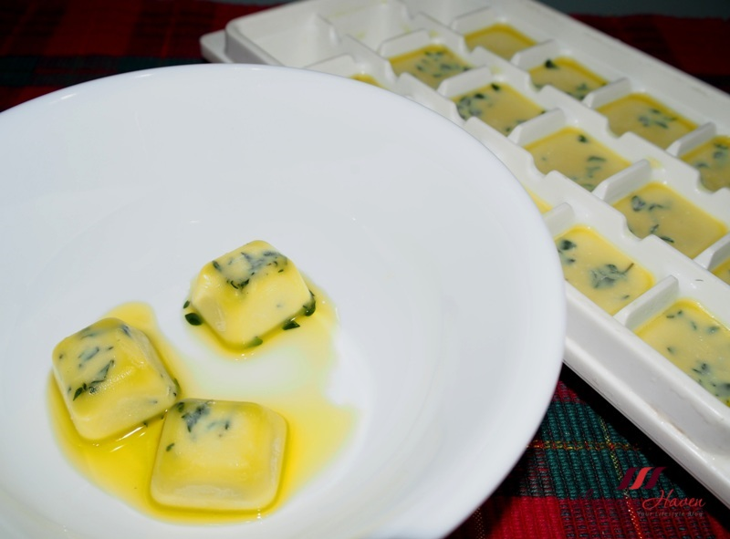 herb infused olive oil ice cubes tips