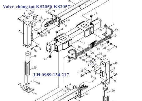 Valve chống tụt - Van chống lún cẩu Kanglim 7 tấn KS2056-KS2057