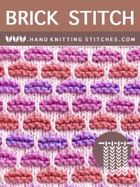 Hand Knitting Pattern - Brick #SlipStitchKnitting