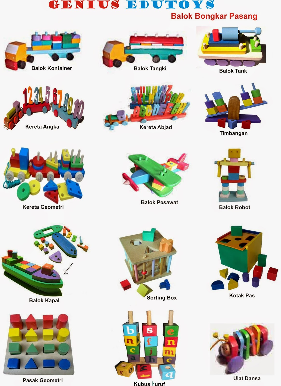 Alat Peraga TK dan PAUD Produksi Mainan Edukatif Anak