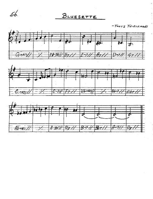 Partitura Saxofón Toots Thielemans