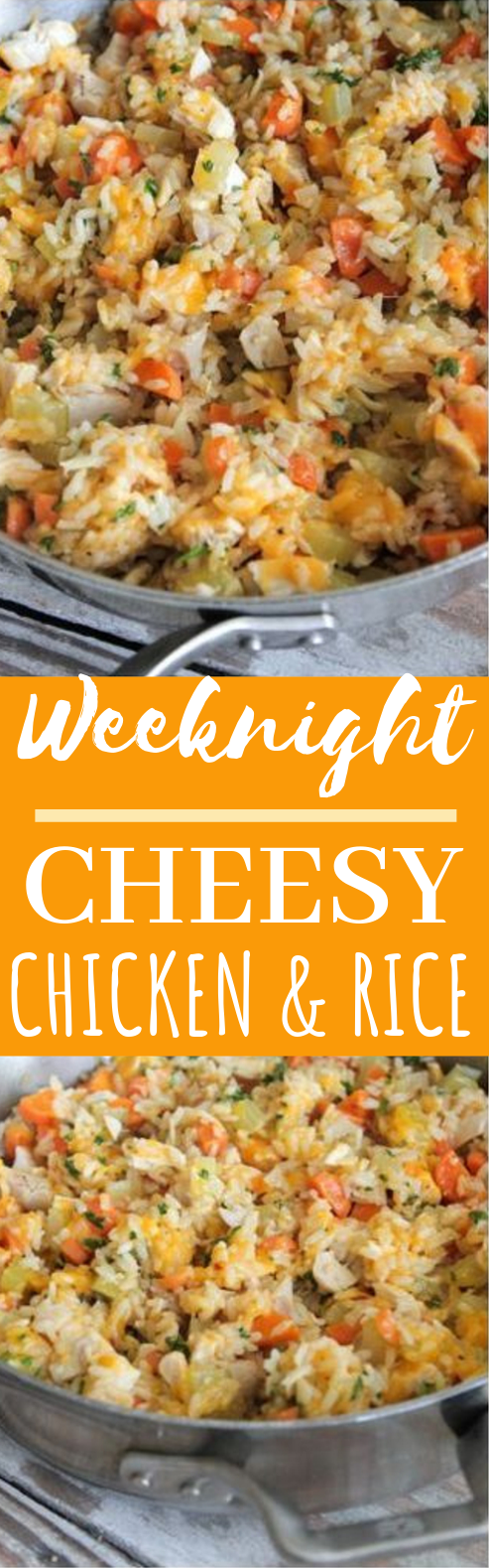 Cheesy Chicken and Rice #dinner #chicken