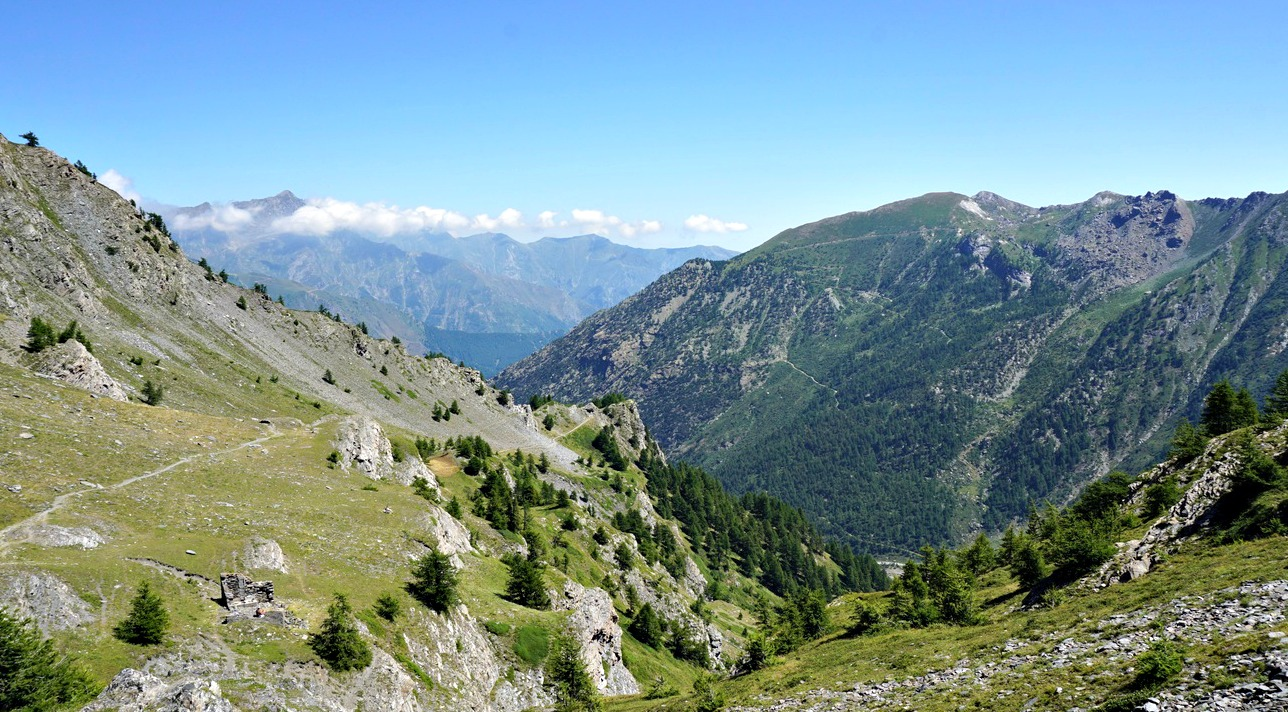 View to Italy from Col Lacroix