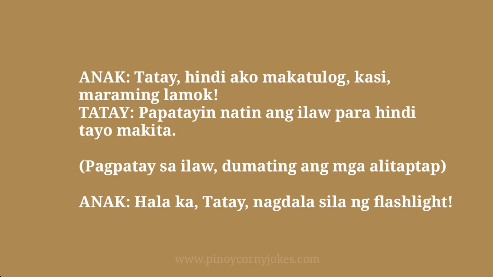 hindi makatulog tagalog jokes parents