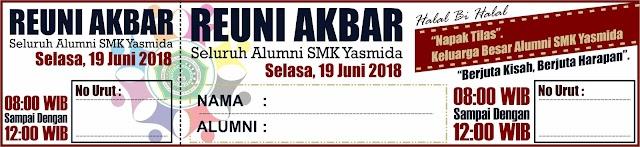 Design Kupon Reuni Akbar SMK Yasmida
