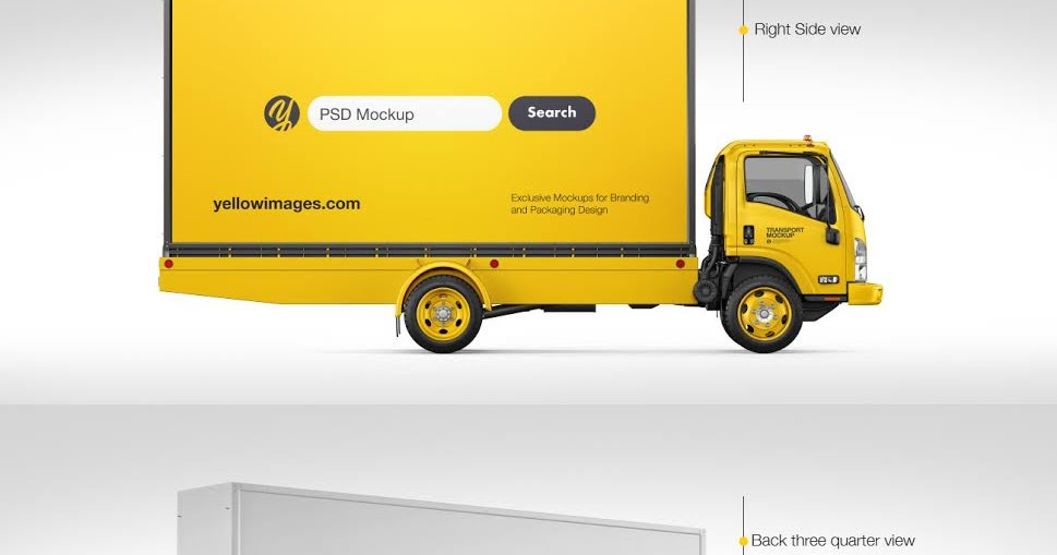 Download Panel Van Mockup Psd 6 Angles Yellowimages