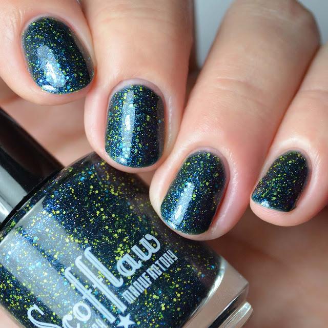 teal jelly nail polish