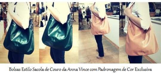 Bolsas estilo sacola de couro da Anna Vince