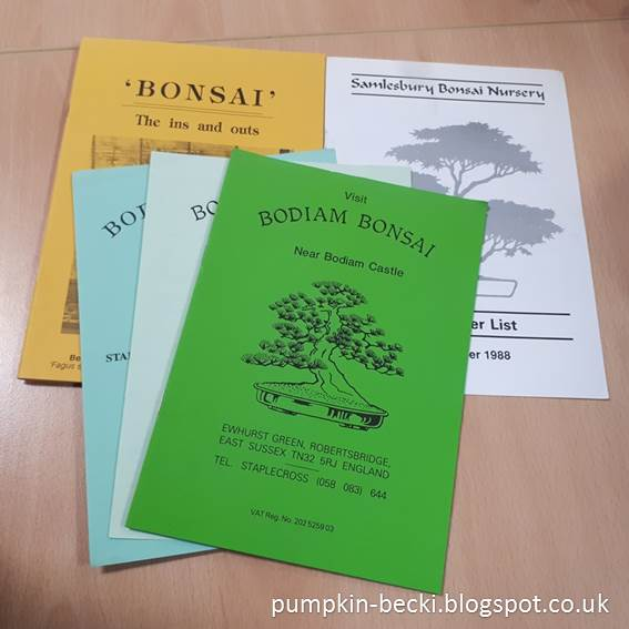 ancient collection Bonsai catalogues circa 1988