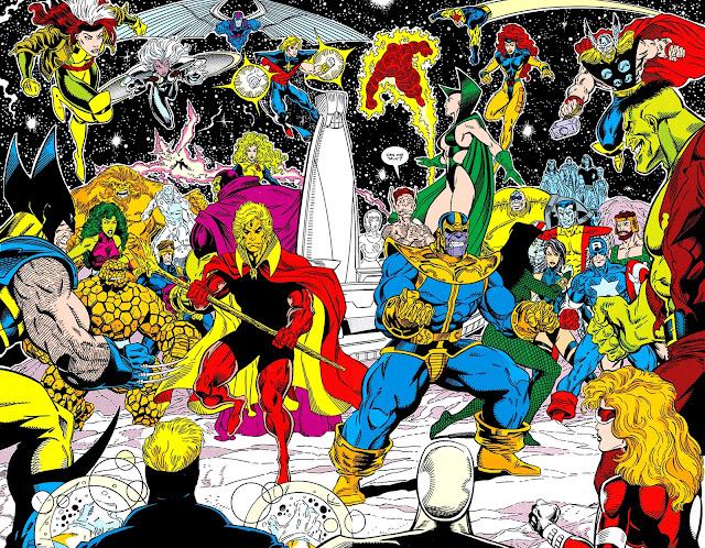 Adam Warlock, Thanos y La Guardia del Infinito vs Los Héroes de la Tierra