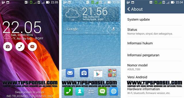 Cara Screenshot Asus Zenfone 4 T001