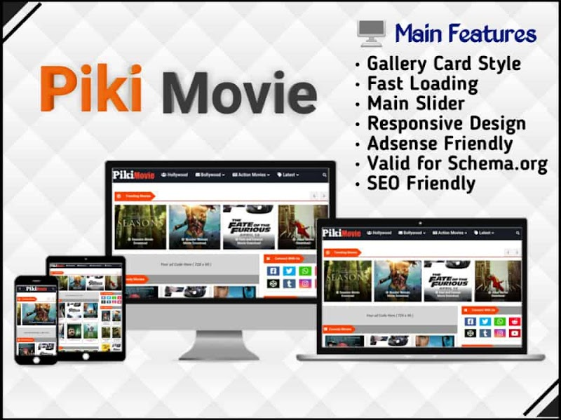 Piki Movie Template - Responsive Blogger Template