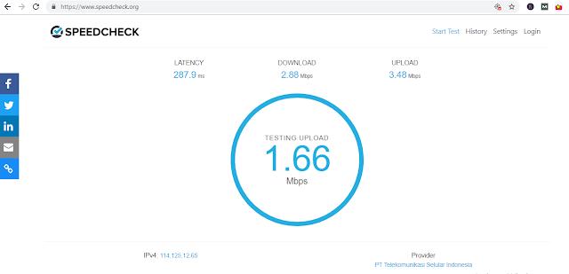 Hasil Speedcheck.org - Cara Mengecek Kecepatan Internet di PC