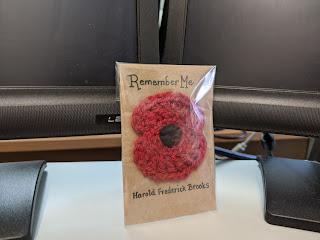 Harold Frederick Brooks - Remembrance Poppy