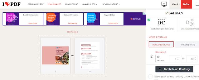 Cara Split PDF Online Menjadi Beberapa Halaman Dengan Mudah di Android / PC