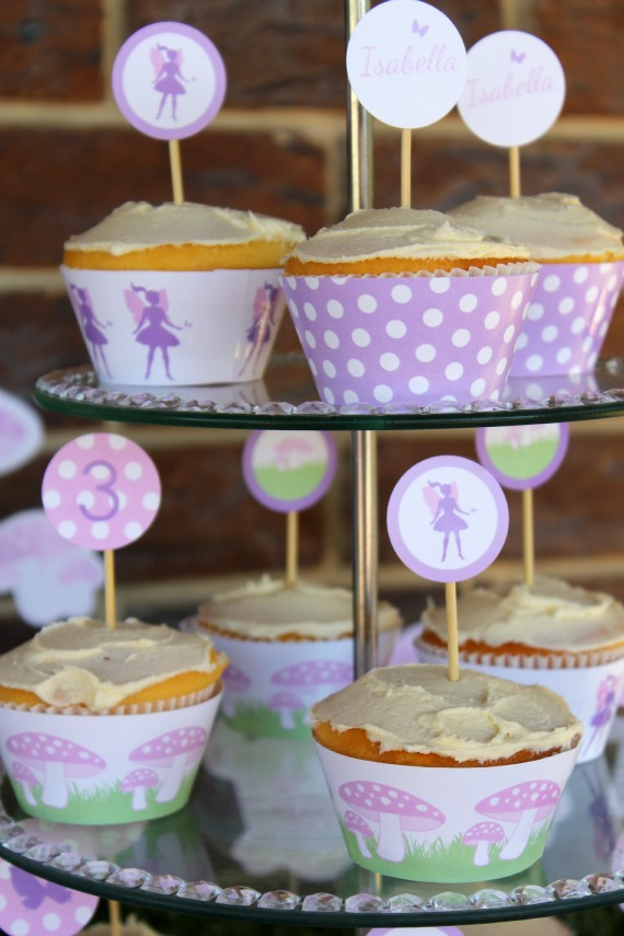 Fairy Party Printables, Fairy Cupcakes, Printable Fairy Party, Fairy Party Food Ideas, Pink and Purple Fairy Party