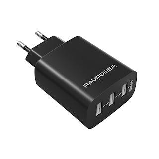 RAVPower Caricatore USB da Muro a 3 Porte sconto 58