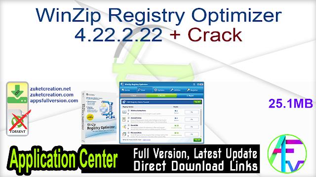 WinZip Registry Optimizer 4.22.2.22 + Crack
