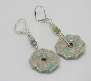 Light blue summer earrings by BayMoonDesign
