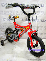 Sepeda Anak BMX Wimcycle Assault 12 Inci with Suspension
