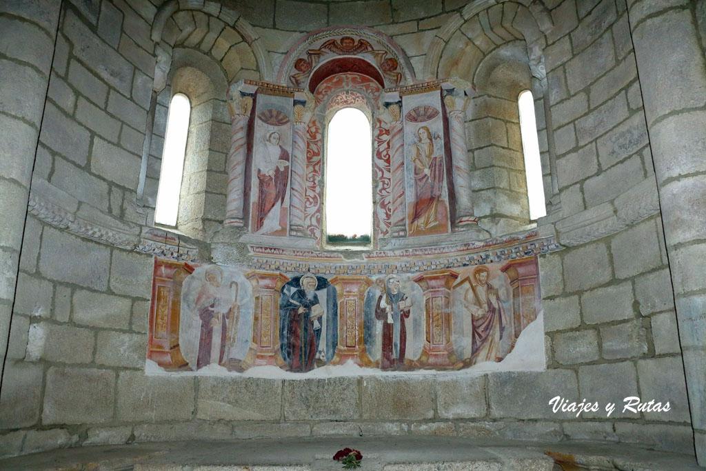 Pinturas deI interior de la iglesia de Santa Cristina de Ribas de Sil