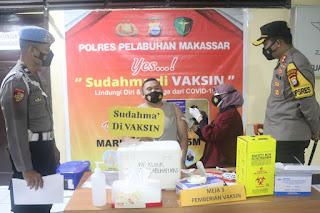 Mari'ki Sukseskan Vaksinasi Covid 19, Imbau Kapolres Pelabuhan AKBP Kadarislam