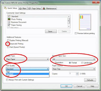 Cara Mencetak Dokumen dan menentukan ukuran kertas