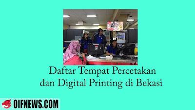 Daftar Tempat Percetakan dan Digital Printing di Bekasi | Berikut dengan Nomor Teleponnya