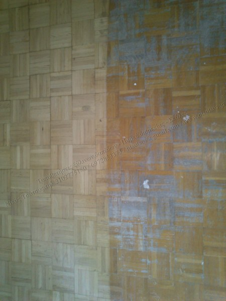 Τρίψιμο και γυάλισμα ξύλινου δαπέδου