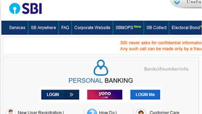 Visit the SBI internet banking website